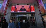 中国の習近平国家主席(共産党総書記)は18日、改革開放40周年大会で演説を行った(Tao Zhang/Getty Images)