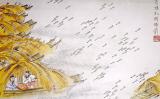 草船で矢を拝借 (画:金協中)