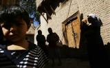 新疆ウイグル自治区カシュガルの旧市街、2007年9月撮影(China Photos/Getty Images)