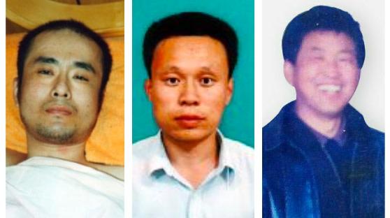 中国当局による拷問と性的暴行で亡くなった法輪功学習者の曲輝さん、呉俊陽さん、楊玉永さん(大紀元が合成)