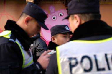 米司法省、中国メディアを外国代理人に正式登録した(MATTHEW KNIGHT/AFP/Getty Images)