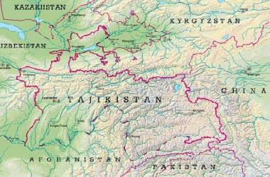 タジキスタンの地図(ウィキペディアより)
