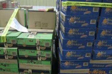 米ニューヨーク市税関および国境警備局(CBP)は19日、中国から輸入した食肉加工品10トンを没収した(CBP New York Cityツイッターより)