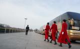 全人代(国会相当)が開催中の天安門広場。2019年3月8日撮影(Andrea Verdelli/Getty Images)