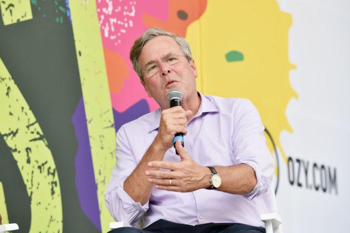 外国人献金問題で、選挙管理委員会より巨額罰金を命じられたと伝えられている、ジェブ・ブッシュ氏(Bryan Bedder/Getty Images for Ozy Fusion Fest 2017)