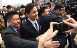 中国統一戦線組織の中国人民政治協商会議(政協)年次総会が3月11~13日に開かれ、出席する中国ネット検索大手・百度(Baidu)の創業者でCEOの李彦宏(Robin Li)氏(GREG BAKER/AFP/Getty Images)