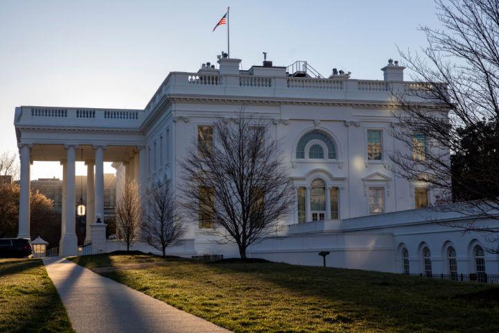 2019年3月ホワイトハウス前で撮影(Tasos Katopodis/Getty Images)