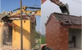 中国江蘇省の高郵市当局はこのほど、民間信仰の神である土地神を祀る社、「土地廟」への取り壊し運動を進めている(ネット写真)