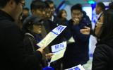 中国人民大学がこのほど発表した「中国就職市場景気報告」によると、1~3月期の就職市場景気指数(CIER指数)が5年ぶりの低水準になった。写真は中国の就職フェアの様子(大紀元資料室)