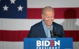 2019年5月1日、アイオワ州で、2020年大統領選に向けて演説するジョー・バイデン元副大統領(Scott Olson/Getty Images)