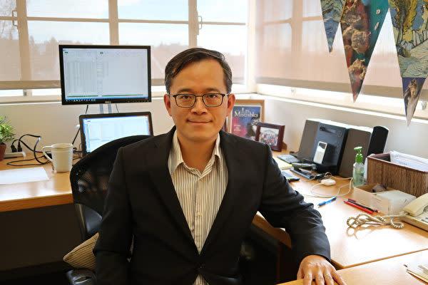 米UCLA経済学者の兪偉雄氏(徐綉恵/大紀元)