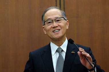 台湾国家安全会議の李大維・秘書長(SAM YEH/AFP/Getty Images)