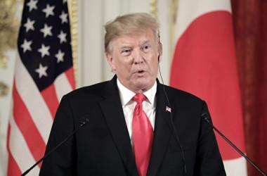 5月27日、来日したトランプ米大統領は日米共同記者会見で、中国当局は「多くの自国企業に補助金を支払っている」と改めて批判した(Kiyoshi Ota – Pool/Getty Images)