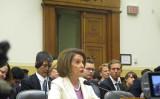 ナンシー・ペロシ米下院議長は4日、米国会で開かれた天安門事件に関する公聴会で発言した(李辰/大紀元)