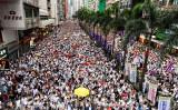 香港では9日、中国本土に刑事事件の容疑者を移送できるようにする「逃亡犯条例」改正に反対する大規模なデモが行われた(宋碧龍/大紀元)