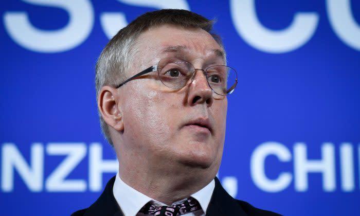 ファーウェイ副社長で世界サイバーセキュリティ担当ジョン・サフォーク氏はこのほど、倫理について、英議員から追及された(GettyImages)