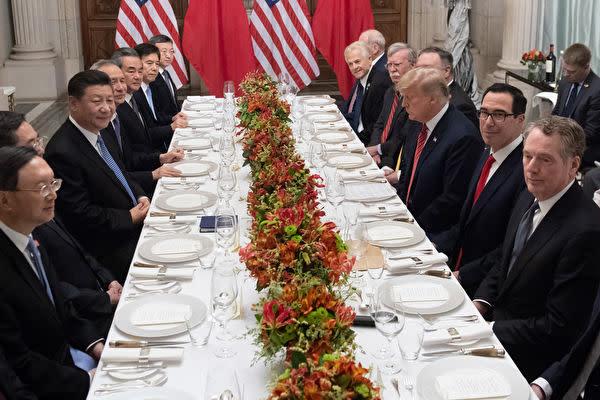 昨年12月1日、アルゼンチン・ブエノスアイレスにて開催されたG20サミットで米中首脳会談が行われた(SAUL LOEB/AFP/Getty Images)