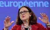 欧州委員会セシリア・マルムストローム貿易担当(EMMANUEL DUNAND/AFP/Getty Images)