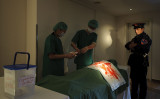 ドイツで行われた、中国臓器収奪の周知目的のデモンストレーション(GettyImages)