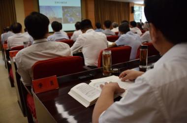 2019年6月、中国共産党中央委員会は北京で、党学校で記者らジャーナリストを指導している(GettyImages)