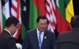 カンボジアのフン・セン首相(ADEK BERRY/AFP/Getty Images)