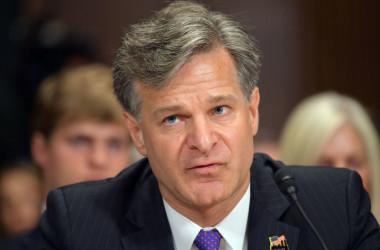 クリストファー・ライFBI長官は、米上院司法委員会に出席し、中国によるスパイ活動は米国にとって最大の脅威だと警告した(GettyImages)