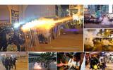 7月28日、香港市民は中環で集会後、西環にある中連弁の前で抗議活動を行った。警官隊が催涙弾やゴム弾などを発射し強制排除に乗り出した(大紀元)