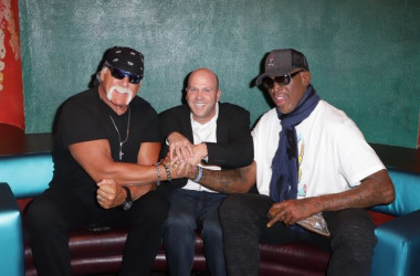 (L-R) Hulk Hogan, Darren Prince, and Dennis Rodman. (Courtesy of Darren Prince)
