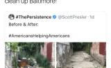 清掃活動に関わったボランティアに謝意を表明するホワイトハウスのアカウント(White House スクリーンショット)