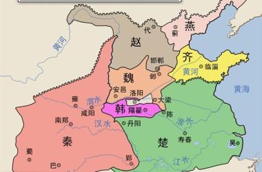 紀元前260年の戦国七雄(イメージ:Philg88 / Wikimedia Commons / CC BY 3.0)