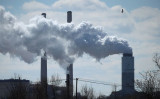 Emissions spew from a large stack at the coal-fired Brandon Shores Power Plant in Baltimore, Md., on March 9, 2018. (Mark Wilson/Getty Images)