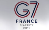 G7サミットで各国首脳は香港情勢について意見交換した(IROZ GAIZKA/AFP/Getty Images)