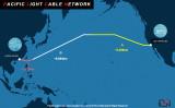 香港とロサンゼルスを繋ぐ太平洋横断光ケーブルネットワークは、司法省が承認を見送っている(Pacific light cable natwork)