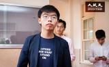 台湾を訪れた香港衆志の黄之鋒・事務局長(陳柏州/大紀元)