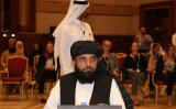 タリバンのスポークスマン、スハイル・シャヒーン(Suhail Shaheen)氏(KARIM JAAFAR/AFP/Getty Images)