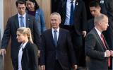 劉鶴副首相は10月10日、米ワシントンの通商代表部(USTR)で開催された13回目の米中閣僚級通商協議に出席した(Photo by SAUL LOEB/AFP via Getty Images)