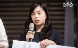 台湾セルフメディア「独眼新聞」を運営する市民のナンシーさんが、10月23日の記者会見で発言した(陳柏州/大紀元)