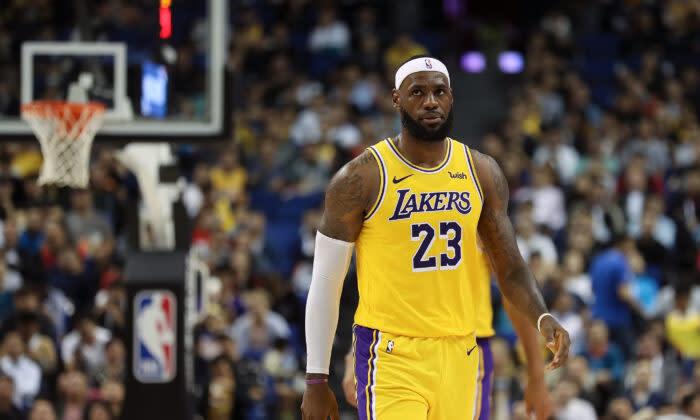 NBAのスター選手であるレブロン・ジェームズ。(Lintao Zhang/Getty Images)