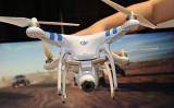 中国ドローン製造大手、大疆創新科技有限公司(DJI)の無人機(ROBYN BECK/AFP/Getty Images)