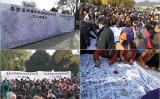 北京市昌平区の住民は11月9日、当局が進める強制立ち退きに反対する大規模な署名活動を行った(抗議者が提供)