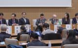 11月30日、東京大学で臓器移植ツーリズムに関するシンポジウムが開催され、日本と台湾、韓国の専門家が登壇した(新唐人TVスクリーンショット)