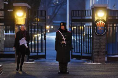 在北京スウェーデン大使館。イメージ写真(GREG BAKER/AFP via Getty Images)