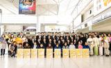 12月22日、名古屋空港に到着した神韻芸術団(大紀元)