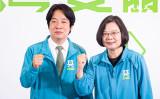 1月11日の台湾総統選で続投を目指す現職の蔡英文総統(右)と、副総統候補の頼清徳・前行政院長(左)(陳柏州/大紀元)