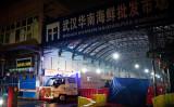 新型コロナウイルスによる肺炎の患者が多く出た武漢市の華南海鮮市場(NOEL CELIS/Getty Images)
