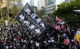 1月19日、香港中心部の中環(セントラル)にあるチャーター・ガーデンで「民主的政治改革」を求める集会が行われた(宋碧龍/大紀元)