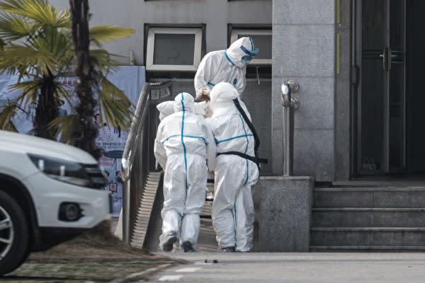 中国湖北省武漢市の金銀潭医院(STR/AFP via Getty Images)