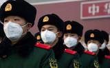 写真は2020年1月26日北京市天安門の前で撮影(Betsy Joles/Getty Images)