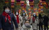 2020年1月25日、旧正月を迎える北京市内の様子(Kevin Frayer/Getty Images)