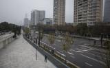 1月27日、封鎖措置で人気がない中国湖北省武漢市内(Photo by Getty Images)